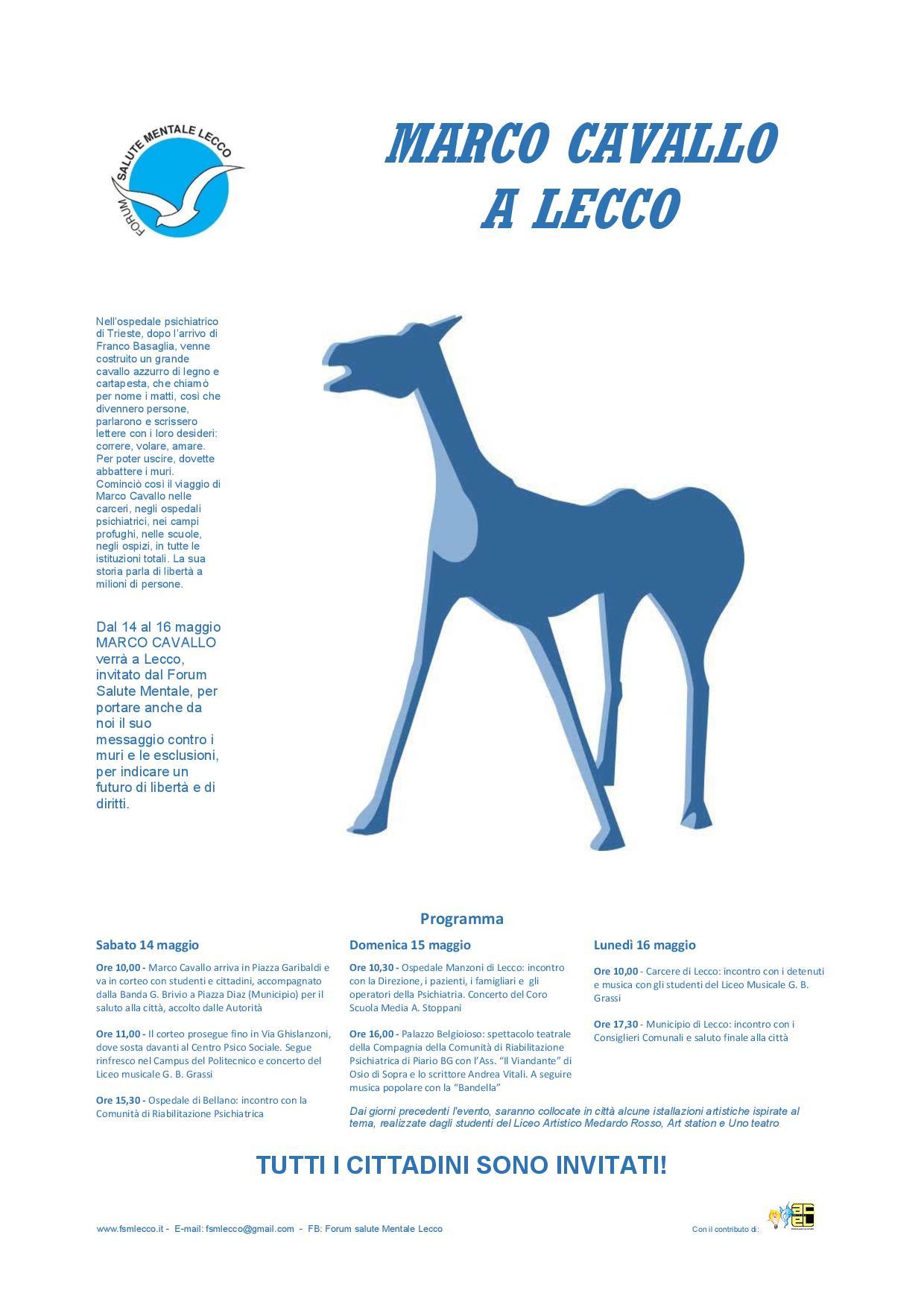 Locandina Marco Cavallo a Lecco G A